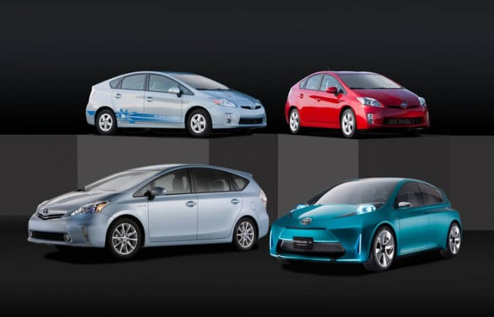 Toyota Prius Family for 2012