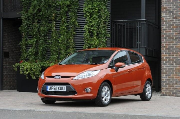 Orange Ford Fiesta UK Model