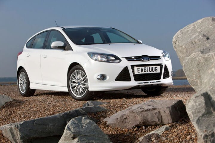 White Frod Focus Car