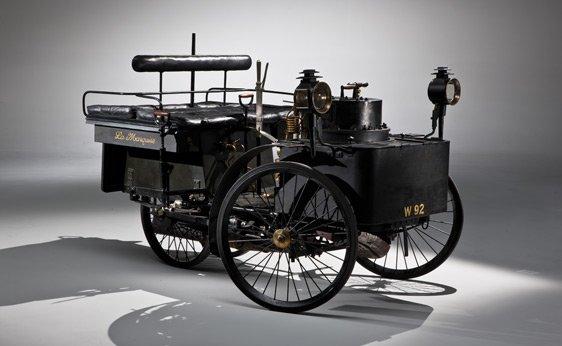 1884 De Dion Bouton et Trepardoux Dos-a-Dos Steam Runabout