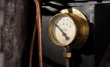 Pressure Gauge of a 1884 De Dion Bouton et Trepardoux Dos-a-Dos Steam Runabout