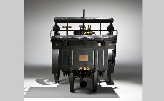 Rear View of a 1884 De Dion Bouton et Trepardoux Dos-a-Dos Steam Runabout