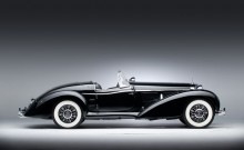 Profile of a black 1939 Mercedes Benz 540 K Special Roadster