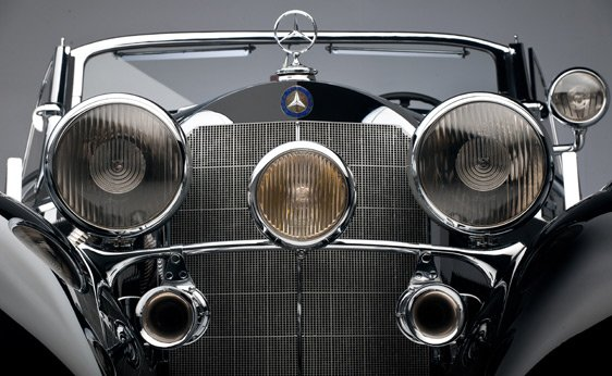 Front View of a 1939 Mercedes-Benz 540 K Special Roadster
