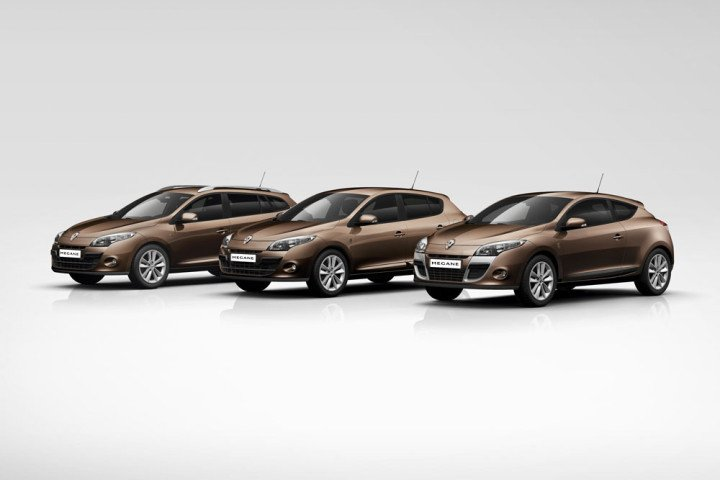 Clio, Mégane, Mégane Coupé, Mégane Estate