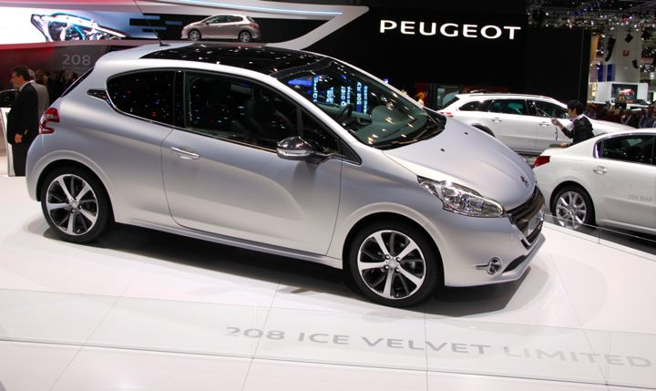 Peugeot 208 at the Geneva Auto Salon in 2012