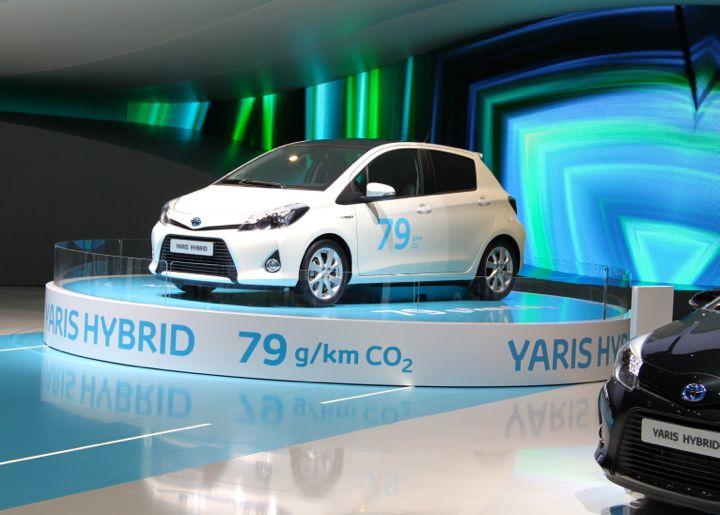 Toyota Yaris Hybrid at the Geneve Auto Salon 2012