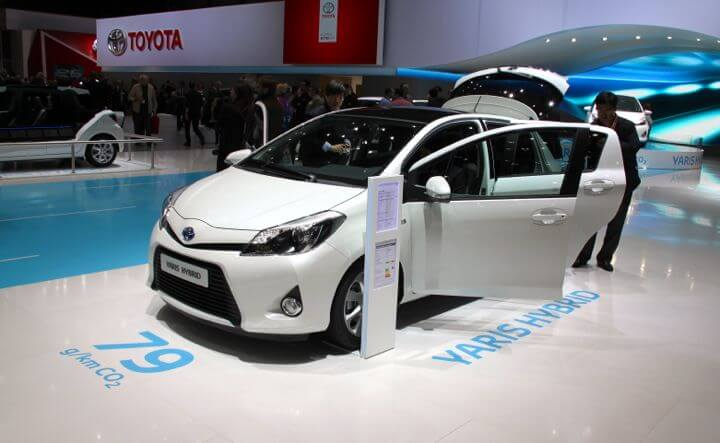 Toyota Yaris Hybrid at the Geneva Auto Salon 2012