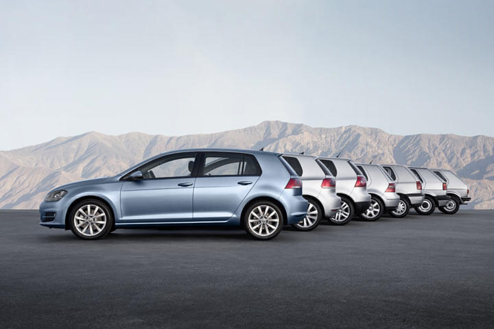 VW Golf Series 1 to 7