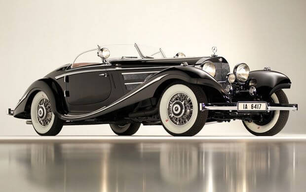 Black 1936 Mercedes-Benz 540 K Special Roadster