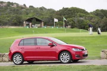 Red VW Golf VII