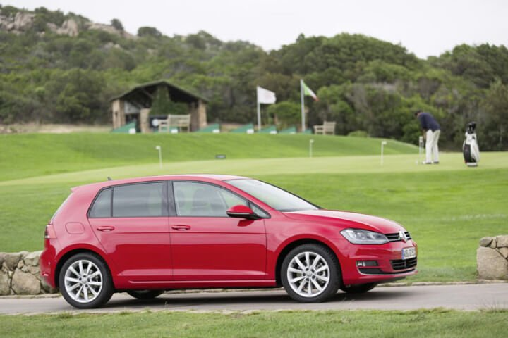 Red VW Golf VII