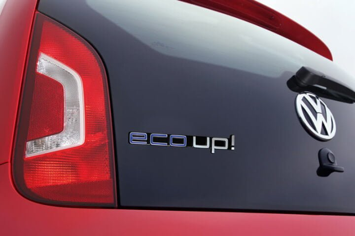 Volkswagen-Eco-UP Rear View closeup