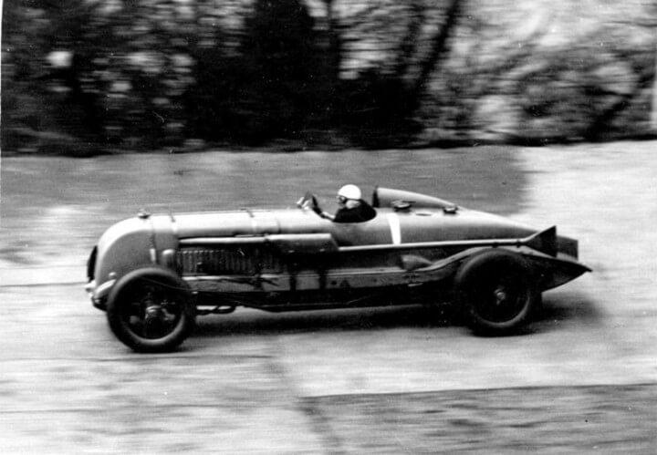 """1929 Bentley """"Birkin Blower"""" in racing action"""