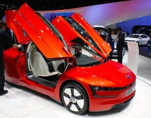 Volkswagen XL1 at the 2013 Geneva Auto Salon