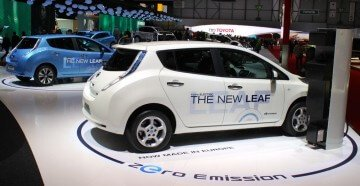 Nissan Leaf at the 2013 Geneva Auto Show