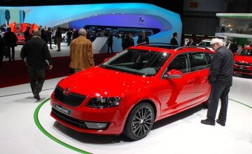New Red Skoda OCtavia Combi