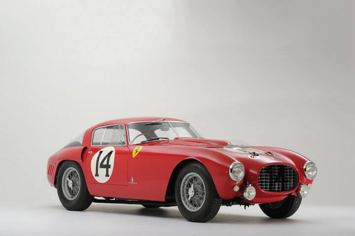 Red 1953 Ferrari 340/375 MM Berlinetta 'Competizione' by Pinin Farina