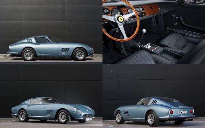 blue 1965 Ferrari 275 GTB by Scaglietti