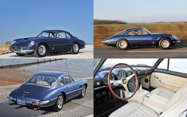 Blue 1962 Ferrari 400 Superamerica SWB Coupé Aerodinamico by Pininfarina