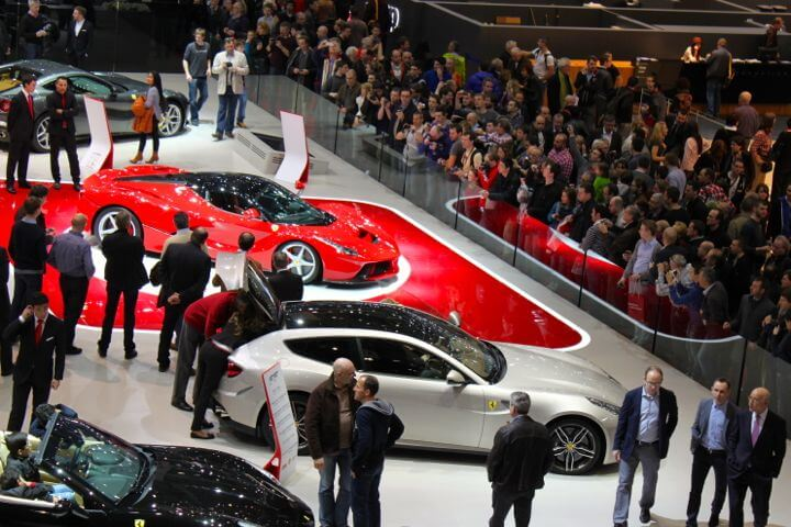 Ferrari Stand at the 2013 Geneva Auto Salon