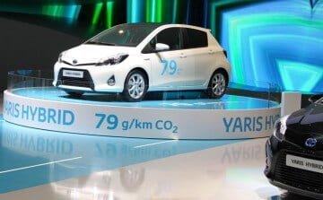 Toyota Yaris Hybrid at the 2012 Geneva Auto Show