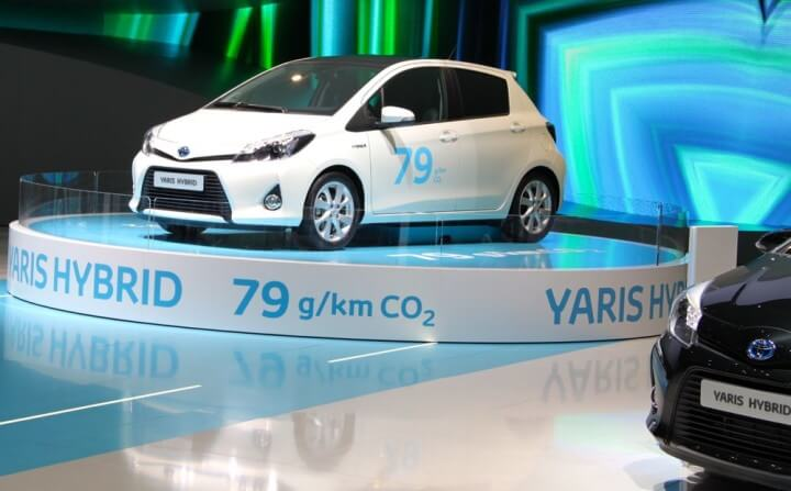 Toyota Yaris Hybrid at the 2012 Geneva Auto Show