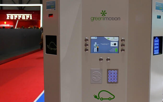 Car Electric Loading Station at Geneva Auto Salon