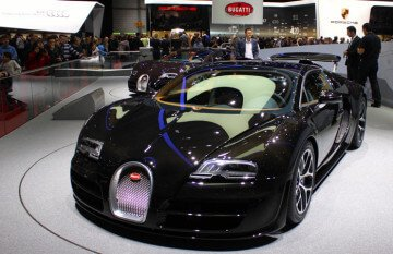 Bugatti Veyeron at the Geneva Auto Show 2013