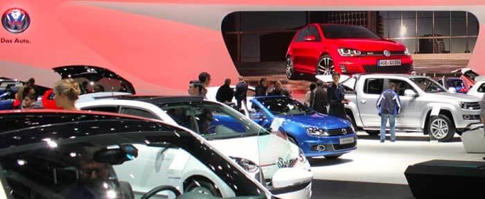 Volkswagen Stand at the Geneva Auto Salon 2013