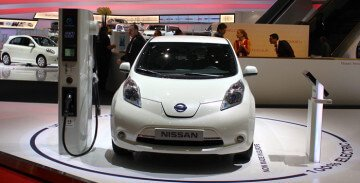 NIssan Leaf at the Geneva Auto Show 2013