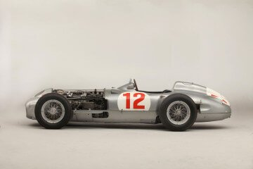 Side profile of the 1954 Mercedes Benz W1969R Racer