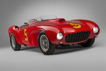 Kimberly Red 1953 Ferrari 375 MM Spider