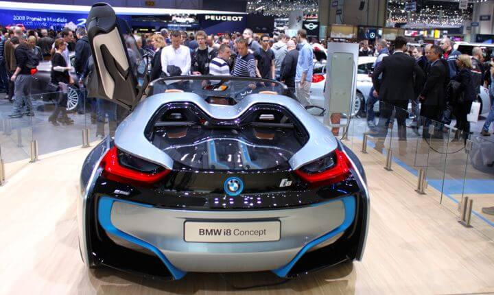 BMW i8 Concept at Geneva Auto Show in 2013