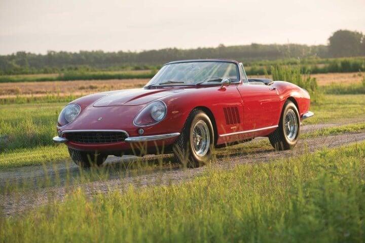 Front 3/4 view of a 1967 Ferrari 275 GTB/4*S N.A.R.T Spider
