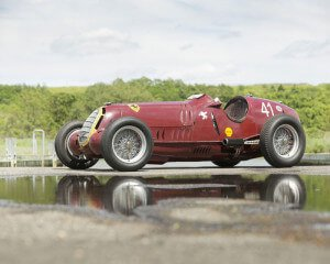 Red 1935 Alfa Romeo Tipo C
