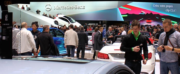Mercedes stand at Geneva Auto Salon 2013
