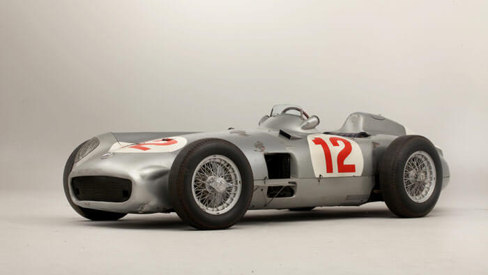 2013 ten most expensive classic cars sold at public auction for Mercedes benz f1