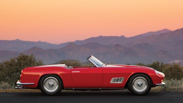 Side Profile of a Ferrari 250 GT LWB California Spider by Scaglietti