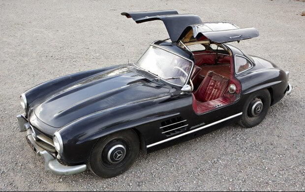 Black 1956 Mercedes Benz 300 SL Gullwing