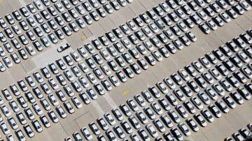 VW PAssats parked