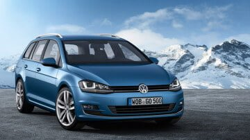 Blue VW GOlf Variant