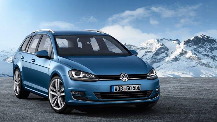 Blue VW GOlf Variant