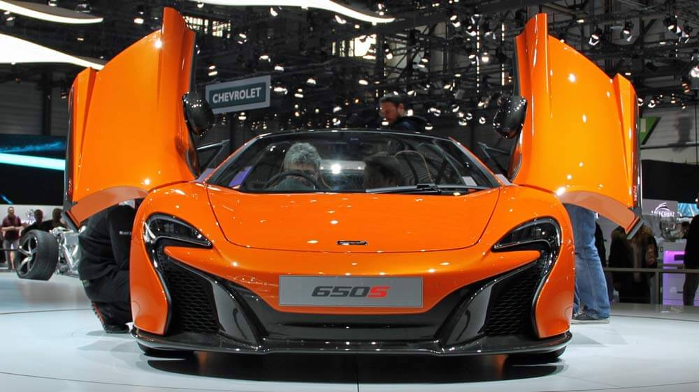 McLaren 650S at the Geneva Auto Show 2014