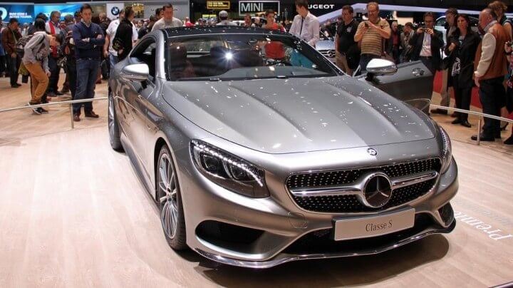 Mercedes S Class Coupe at the Geneva Auto Show 2014