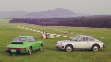 Porsche 912 in green and silver