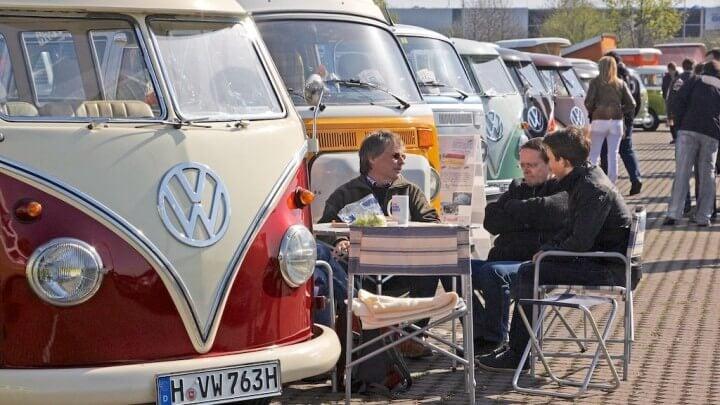 VW Bus Old TImer Meeting