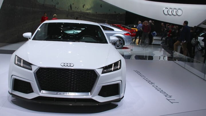 Audi TT quattro sport concept shown at the Geneva Auto Show 2014.