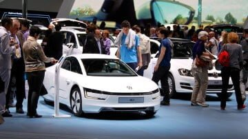 Volkswagen XL1 at the Geneva Auto Salon 2014