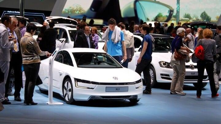 Volkswagen XL1 at the Geneva Auto Salon 2014